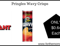 Giant: Pringles Wavy Crisps JUST $0.64 Starting 2/22!
