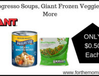 Progresso Soups, Giant Frozen Veggies & More ONLY $0.50 Each Starting 2/22!