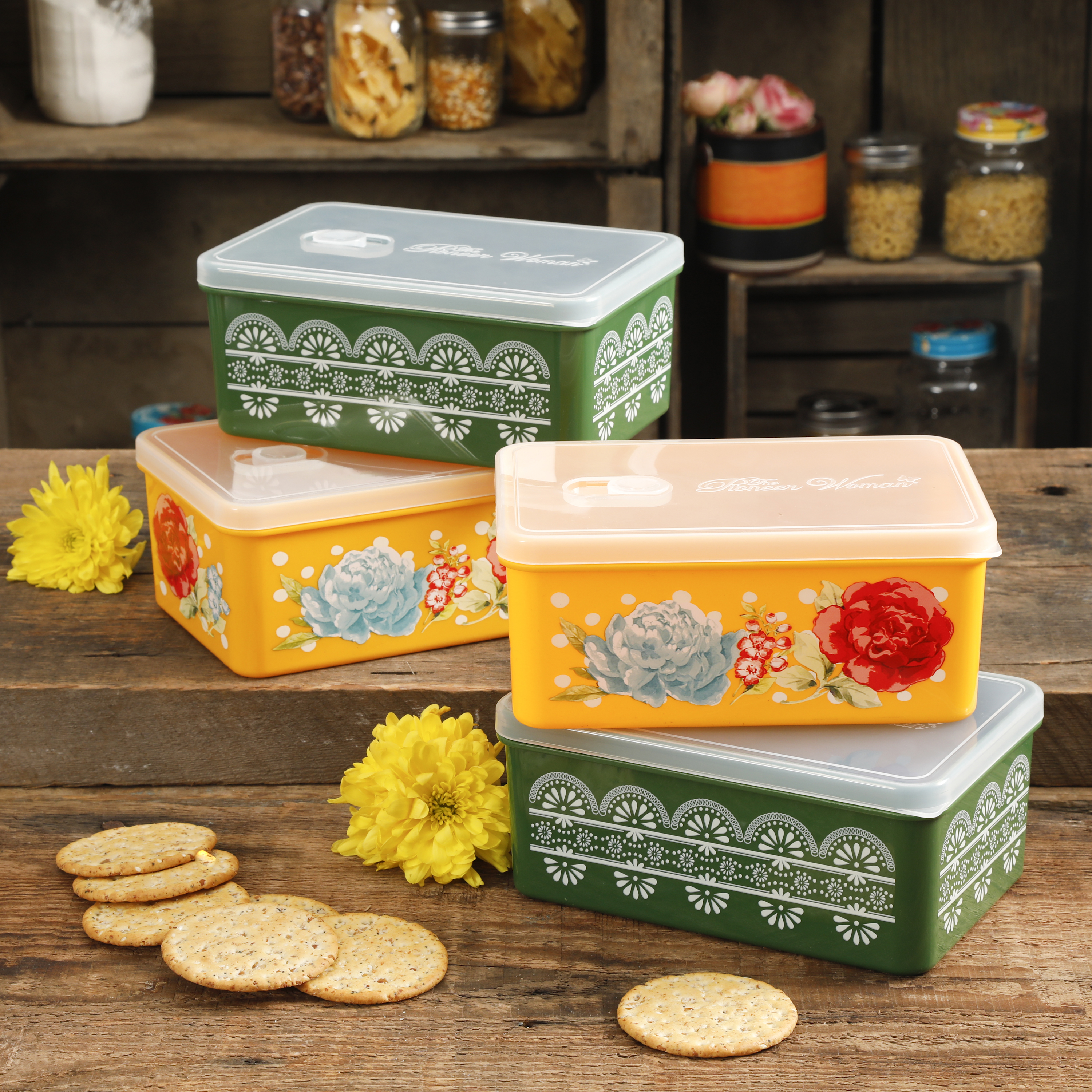 Rectangular Containers 4-Piece Set $9.97