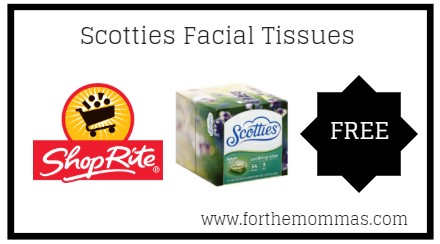 image about Scotties Tissues Printable Coupon known as ShopRite: Absolutely free Scotties Facial Tissues Commencing 2/24! - FTM