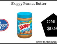 Skippy Peanut Butter ONLY $0.97 {Reg $2.49}
