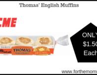 Thomas' English Muffins JUST $1.50 Each Thru 2/20!