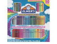 Elmer's Rainbow Glitter Glue Pen Set, 50 count ONLY $8.59
