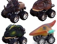 Dino Pull Back Cars 4-Pack ONLY $9.60