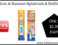 CVS: Arm & Hammer Spinbrush & Refills ONLY $1.99 Starting 3/24