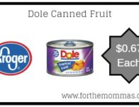 Dole Canned Fruit ONLY $0.67 {Reg $0.99}