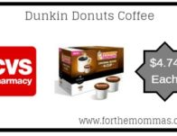 CVS: Dunkin Donuts Coffee ONLY $4.74 Starting 3/24