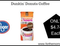 Kroger Mega Sale : Dunkin' Donuts Coffee ONLY $4.74 {Reg $6.99}