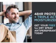 Free Dove Men+Care Clean Comfort Dry Spray Sample