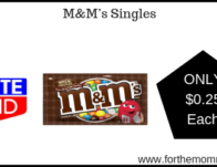 Rite Aid: M&M's Singles ONLY $0.25 Each Starting 3/10
