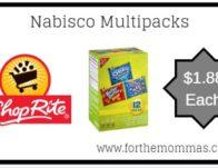 ShopRite: Nabisco Multipacks JUST $1.88 Each Thru 3/23!