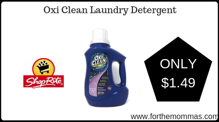 ShopRite: Oxi Clean Laundry Detergent Just $1 49 Each