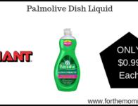 Giant: Palmolive Dish Liquid Just $0.99 Starting 3/22!