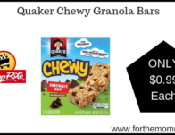 ShopRite: Quaker Chewy Granola Bars JUST $0.99 Each Starting 3/24!