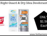 Walgreens: Right Guard & Dry Idea Deodorant ONLY $1.50 Each Starting 3/10