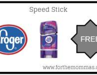 Kroger Mega Sale: FREE Speed Stick {Reg $1.99}