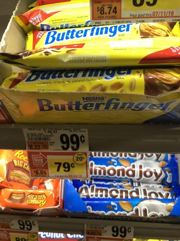 Giant: Nestle Butterfinger Candy Bar Singles JUST $0.29 Each Thru 4/25!