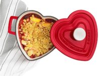 Martha Stewart Enameled Cast Iron Heart-Shaped Casserole ONLY $39.99 (Reg $100)