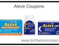 New Printable Aleve Coupons   Up To $7.00