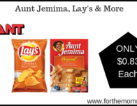 Giant: Aunt Jemima, Lay's & More JUST $0.83 Each Starting 4/5!