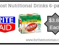 Rite Aid: Boost Nutritional Drinks 6-Pack ONLY $3.87 Each Starting 4/7 (Reg. $10.49)