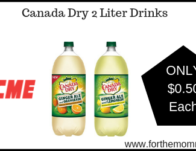 Canada Dry 2 Liter Drinks JUST $0.50 Each Thru 4/25!