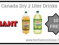 Giant: 10 FREE Canada Dry 2 Liter Drinks Starting 4/19!