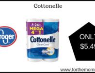 Kroger Mega Sale: Cottonelle ONLY $5.49 {Reg $6.99}