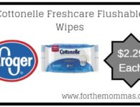 Kroger: Cottonelle Freshcare Flushable Wipes ONLY $2.29 {Reg $3.59}