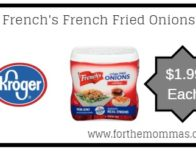 Kroger Mega Sale: French's French Fried Onions ONLY $1.99 {Reg $4.49}