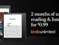 Kindle Unlimited 2-Month Subscription $0.99