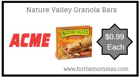 Acme: Nature Valley Granola Bars JUST $0.99 Each Thru 4/11!