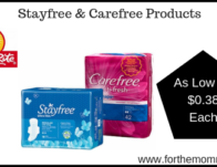 ShopRite: Stayfree & Carefree Products As Low As ONLY $0.38 Each Starting 4/7!