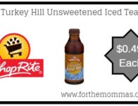 ShopRite: Turkey Hill Unsweetened Iced Tea JUST $0.49 Each!
