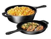 Ultimate Pre-Seasoned 2-In-1 Cast Iron Multi-Cooker Set $29.70 {Reg $60}
