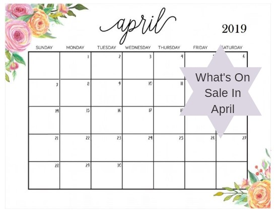 What's On Sale In April?