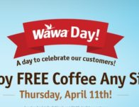 FREE Coffee on #WawaDay! Today!!
