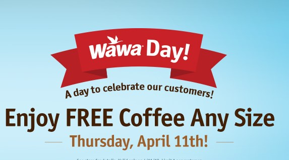 FREE Coffee on #WawaDay!