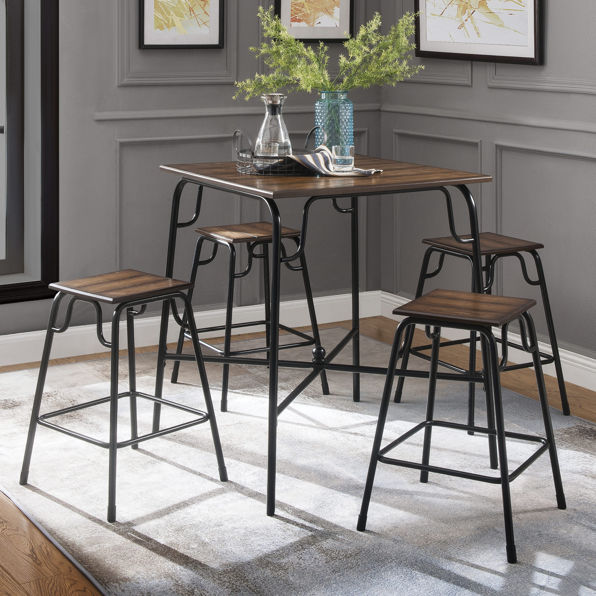 Acme Hachi 5 Piece Counter Height Dining Set $99 {Reg $199}