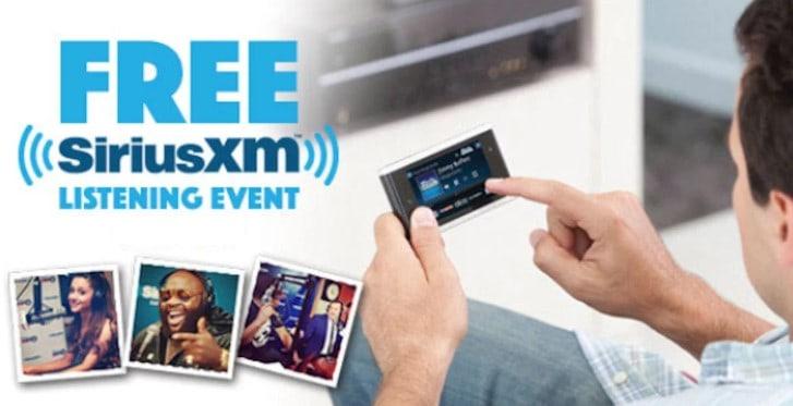how to listen to siriusxm free
