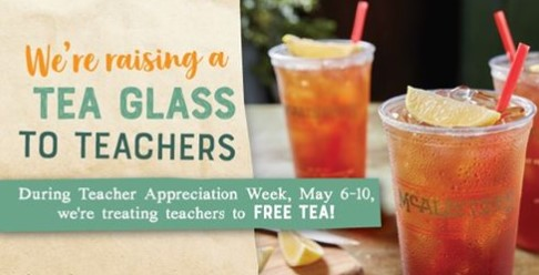 graphic about Mcalister's Printable Menu called Cost-free Tea for Instructors at McAlisters Deli - FTM
