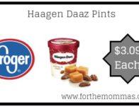 Haagen Daaz Pints ONLY $3.09 {Reg $4.99}