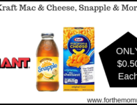 Kraft Mac & Cheese, Snapple & More ONLY $0.50 Each Starting 5/24!
