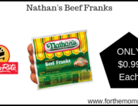 Nathan's Beef Franks ONLY $0.99 Starting 5/26!