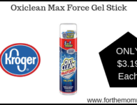 Oxiclean Max Force Gel Stick ONLY $3.19 {Reg $3.99}