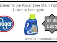 Oxiclean Triple Power Free Stain Fighter Laundry Detergent ONLY $4.69 {Reg $7.49}