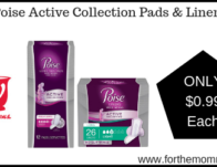 Poise Active Collection Pads & Liners ONLY $0.99 Starting 5/26