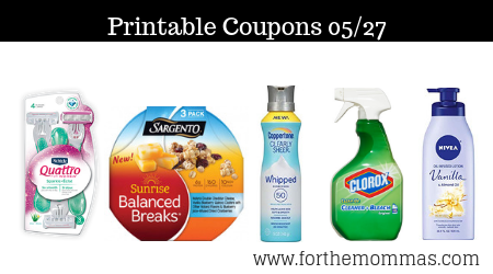 graphic regarding Nivea Printable Coupons called Most up-to-date Printable Discount coupons 05/27: Conserve Upon Sargento, Nivea