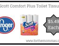 Scott Comfort Plus Toilet Tissue ONLY $5.49 {Reg $6.99}