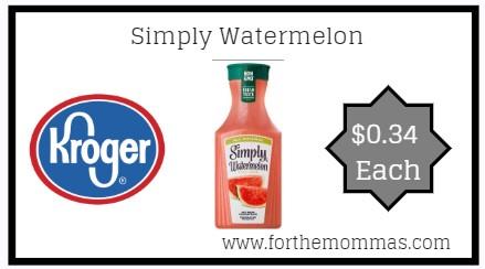 Kroger: Simply Watermelon ONLY $0.34 {Reg $2.19}
